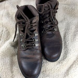 Timberland Hiking Boot Leather Brown 7M Lace Up